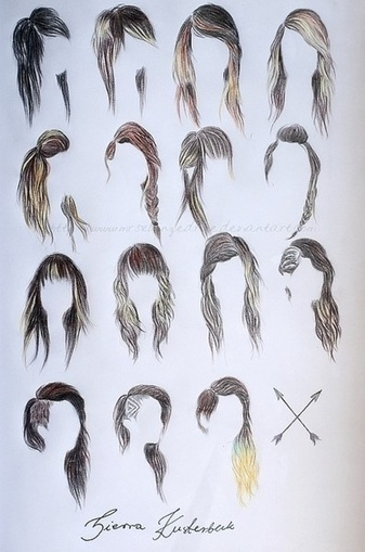 Hair Style Drawing Reference Drawing Referenc
