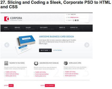 Tutoriales para convertir PSD a HTML y CSS | El Mundo del Diseño Gráfico | Scoop.it