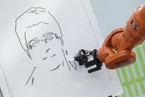 Un robot dessine un portrait en trois minutes | veille technologique sur la robotique | Scoop.it