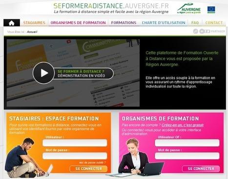 Nouvelle plateforme de formation à distance de la Région Auvergne ... | éducation en ligne | Scoop.it