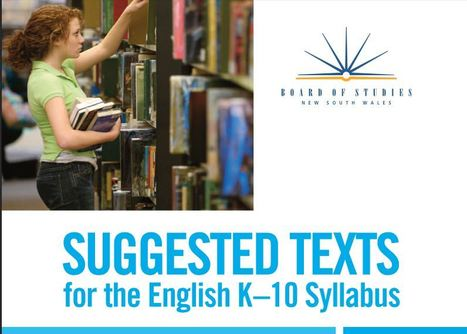 Suggested texts for the English K-10 curriculum | My Tools for school | Scoop.it