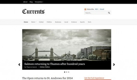Currents Wordpress Theme – Minimal News Theme By Woo Themes | Premium Wordpress Themes | Scoop.it