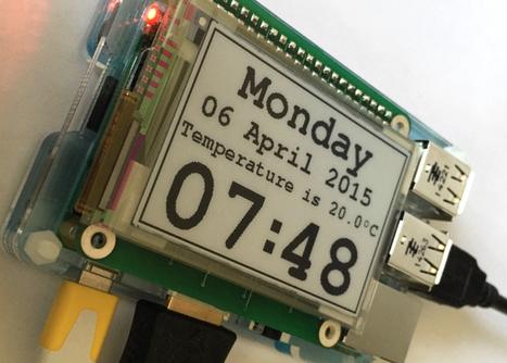 Raspberry Pi E-Paper Display HAT (video) - Geeky Gadgets | Raspberry Pi | Scoop.it