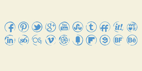 Stamp Icons Set - Social Icons | Art Collection | Scoop.it