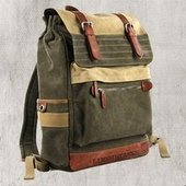 larege travel cavnas rucksacks laptop pack | personalized canvas messenger bags and backpack | Scoop.it