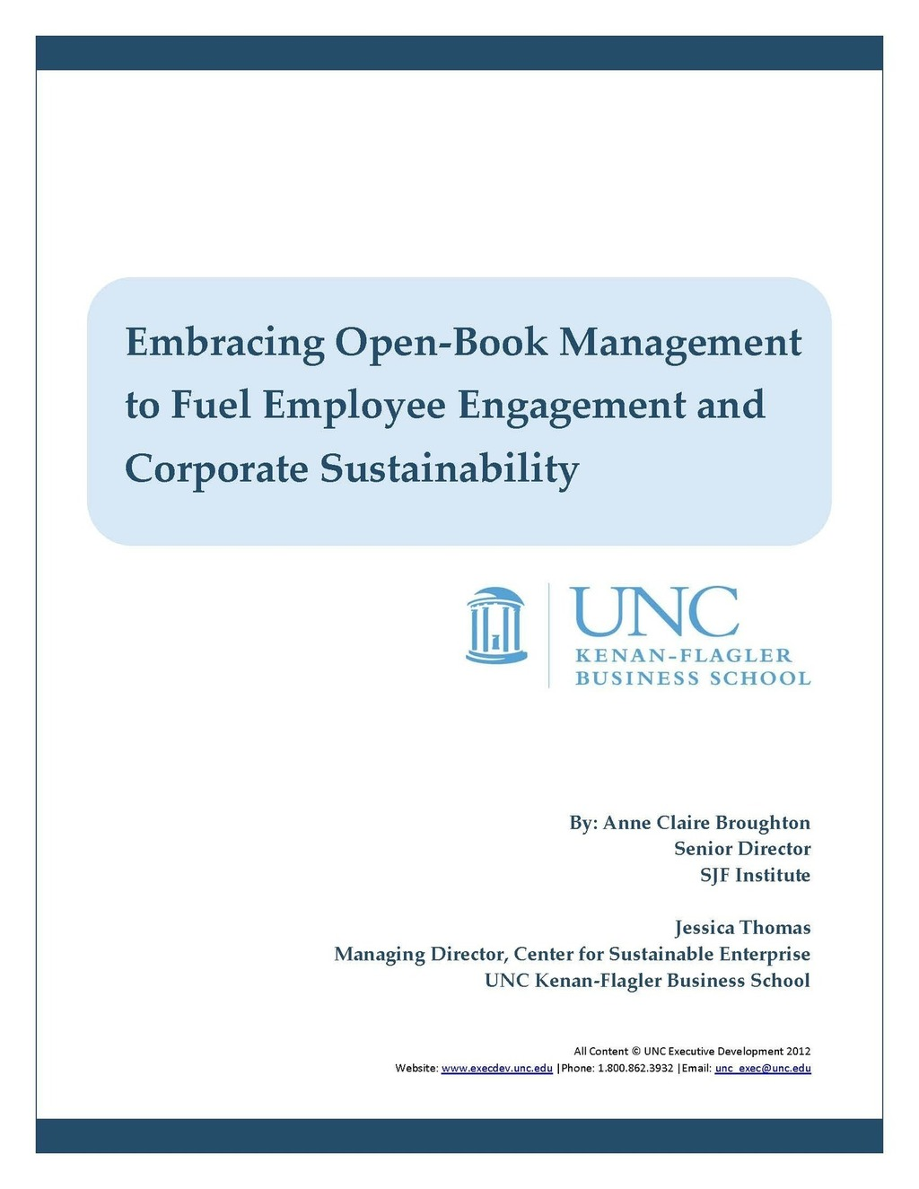 on the power of open-book management: employee engagement happens when you ask people to think and act like owners of the business.