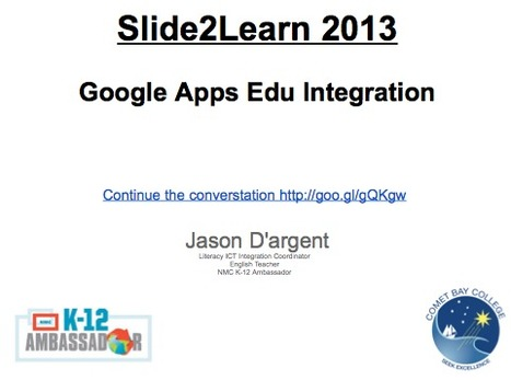 Slide2Learn 2013 Google Apps EDU Connecting Learners - GoogleDrive   Higher Education Teaching and Learning   Scoop.it