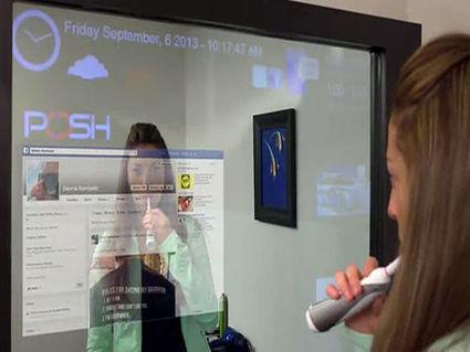 Le miroir qui fonctionne comme une interface tactile géante | technologies mobile | Scoop.it