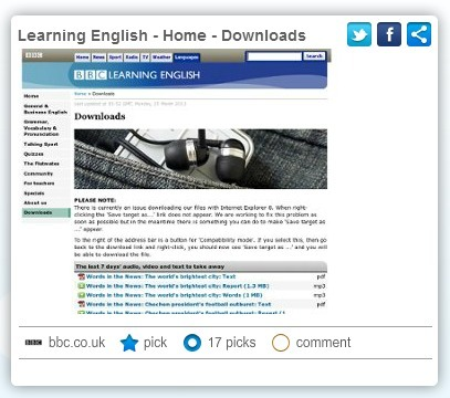 Learning English - Home - Downloads | Off-the-Web ELT Lessons, Materials & Activities | Scoop.it