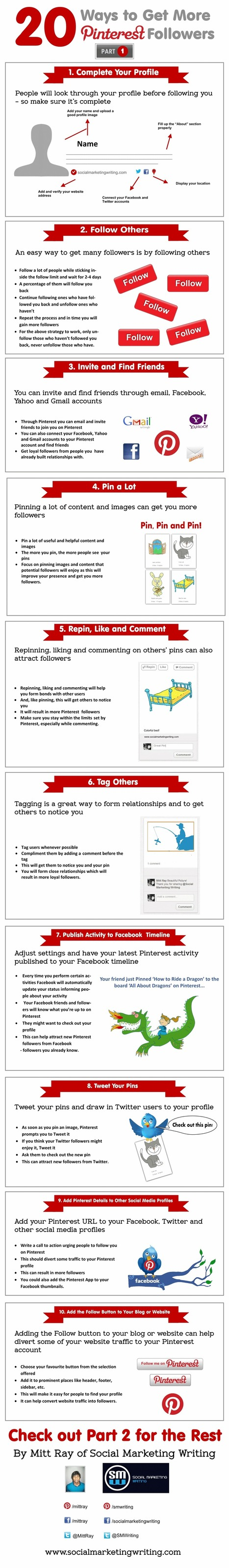 20 Ways to Get More Pinterest Followers - Part I | Reputation Management | Scoop.it