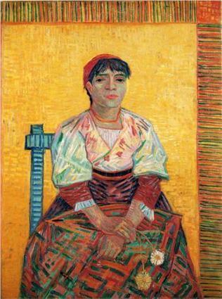 Italian Woman (Agostina Segatori) 1887 Vincent Van Gogh   Van gogh Replica Paintings for Sale   Scoop.it
