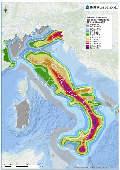 Which areas of Italy have the highest risk of earthquakes? | Le Marche Properties and Accommodation | Scoop.it