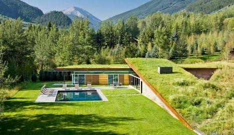 Magnifique maison contemporaine semi enterr eac - Maison contemporaine toit 4 pentes ...