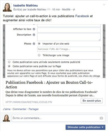 Publication Facebook : Ajouter un Bouton Call-to-Action | Fuel for digital strategic marketers | Scoop.it