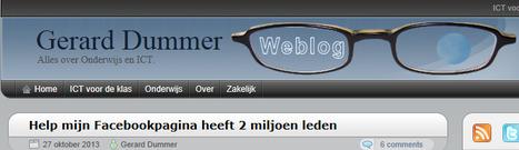 Help mijn Facebookpagina heeft 2 miljoen leden - Gerard Dummer | Mediawijsheid in het VO | Scoop.it