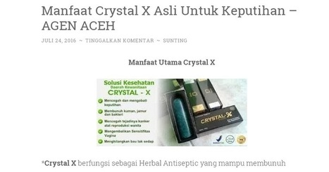 Cari Tahu Seputar Aceh: Penjual Natural Crystal X Wilayah Aceh | Indonesia NEWS Fast and Update | Scoop.it