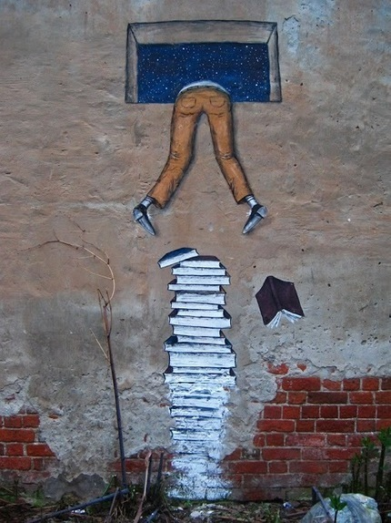 25 hilarious & inspiring street art & mural works about books, libraries and reading - Ebook Friendly | The Information Professional | Scoop.it