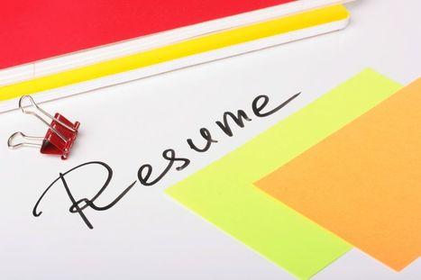 A résumé – your future on a piece of paper   Succes met je Talent   Scoop.it