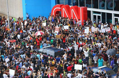 Protesters Gather at CNN's Atlanta Headquarters  - COLORLINES   SocialAction2015   Scoop.it