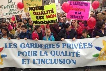 Les garderies privées manifestent contre la Charte des valeurs | National | Famille | Scoop.it
