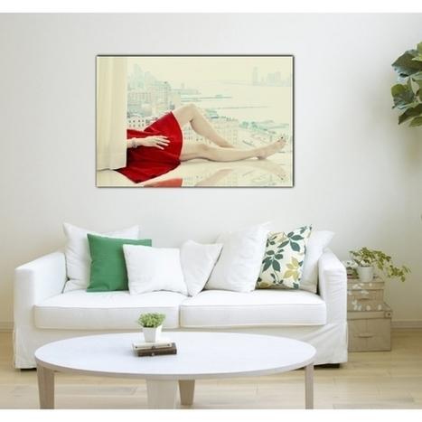 Tableau Mode Robe Rouge - ArtWall and Co   Décoration maison intérieure et extérieure   Scoop.it