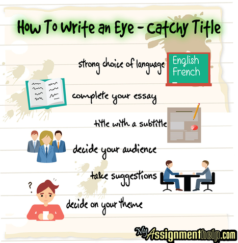 How To Write an Eye – Catchy Title : Assignment Help | Assignment Help -Australia, UK & USA | Scoop.it