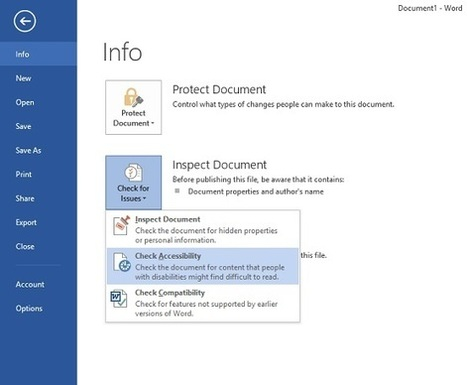 Accessibility in Microsoft Office 2013 | Design for All | Scoop.it