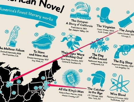 This map shows where 42 of the greatest American novels took place | INTRODUCTION TO THE SOCIAL SCIENCES DIGITAL TEXTBOOK(PSYCHOLOGY-ECONOMICS-SOCIOLOGY):MIKE BUSARELLO | Scoop.it