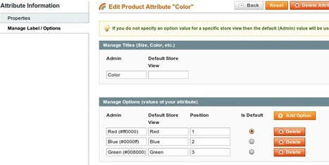 Color swatches - Magento Color Swatches | | FME Extension | Scoop.it