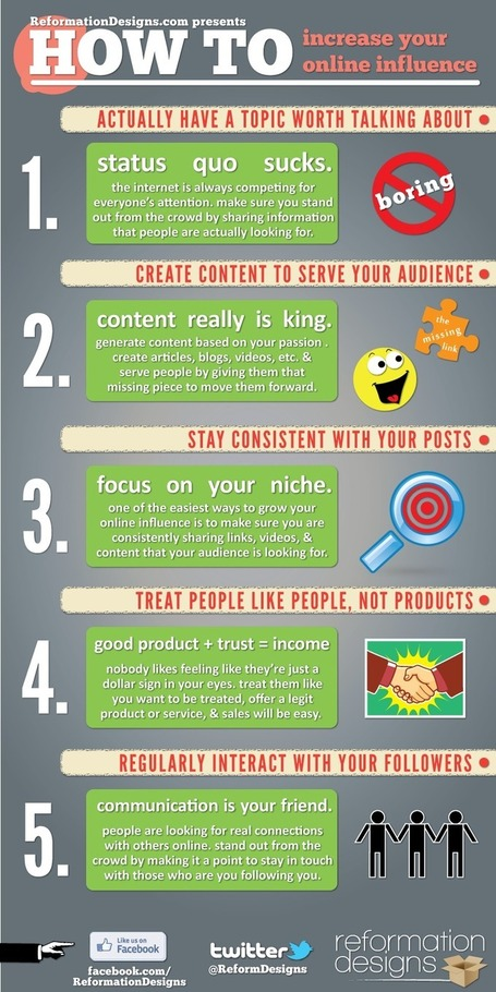 How To Increase Your Online Influence #Infographic | digital marketing strategy | Scoop.it