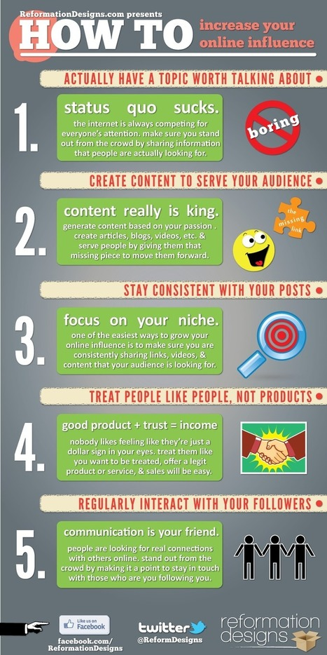 How To Increase Your Online Influence #Infographic | Marketing&Advertising | Scoop.it