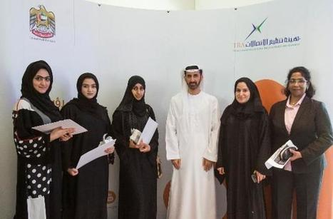 TRA awards UAE Higher Colleges of Technology students participating in the 'International Girls in ICT Day' competition | Women & Girls in ICT | Scoop.it