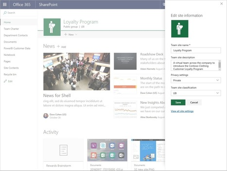 Create connected SharePoint Online team sites in seconds - Office Blogs | Sharepoint 2013 FR - OFFICE 365 - YAMMER | Scoop.it