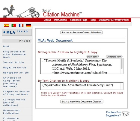 Son of Citation Machine | Tools for Learners | Scoop.it