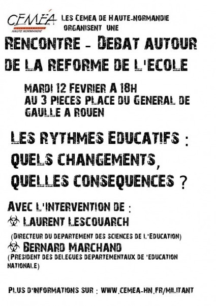 Débat Reforme de l'école - Site des militants des cemea de Haute Normandie | CaféAnimé | Scoop.it