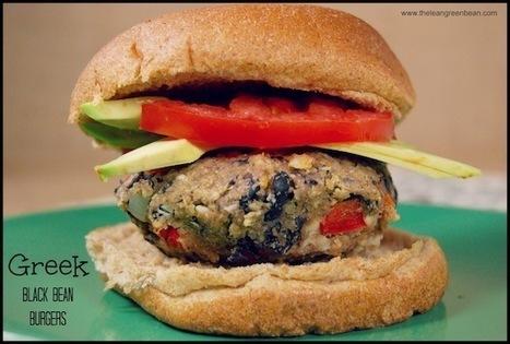Greek Black Bean Burgers | FIT for Success | Scoop.it