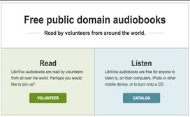 LibriVox Offers Tons of Free Public Domain Audiobooks to Use with Students | Digging on the Digital: Libraries, iPads & Learning Technology | Scoop.it