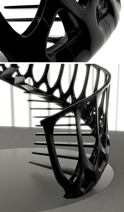 Spinal Staircase: Bare-Bones Steps Inspired by Vertebrae | Biomimicry | Scoop.it