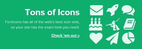 Fonticons | Web mobile - UI Design - Html5-CSS3 | Scoop.it