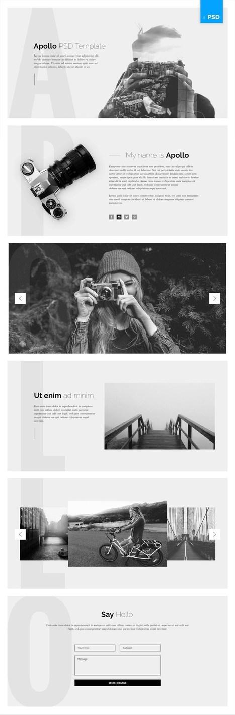 10 Creative and Free PSD Portfolio Templates | DesignFeed | Scoop.it