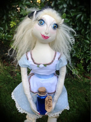 OOAK Alice in Wonderland Inspired Handmade Pixie Cloth Art Doll   Cloth art dolls   Scoop.it
