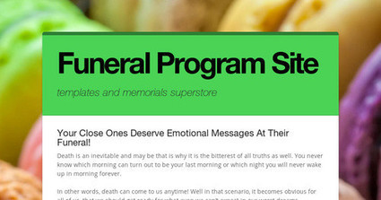 Your Close Ones Deserve Emotional Messages At Their Funeral! | Memorial Service Program | Scoop.it