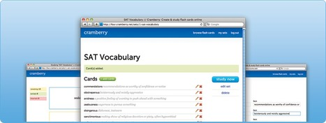 Cramberry: Create & study flash cards online.   Screen flashes.   Scoop.it