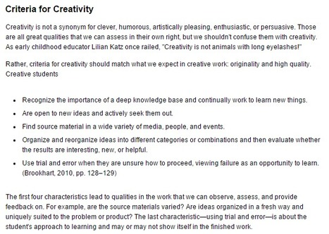 Educational Leadership | Assessing Creativity | eLeadership | eSkills | SoHoInt  Critical Creative Thinker 046 | Scoop.it