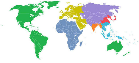 The World Divided Into 7 Regions Each with a Population of 1 Billion | AP Human Geography Digital Knowledge Source | Scoop.it