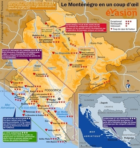Monténégro : fiche pratique et carte   Guide évasion   Guide de voyage   Scoop.it
