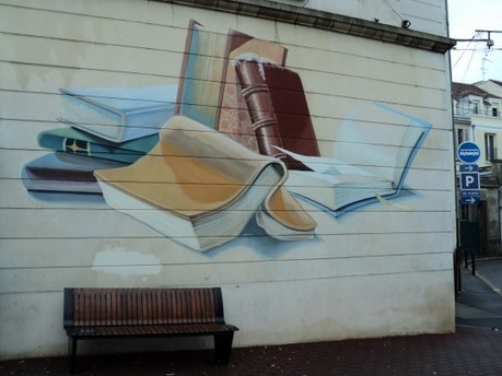 25 amazing street art and mural works about books, libraries and reading | IELTS throughout the Net | Scoop.it