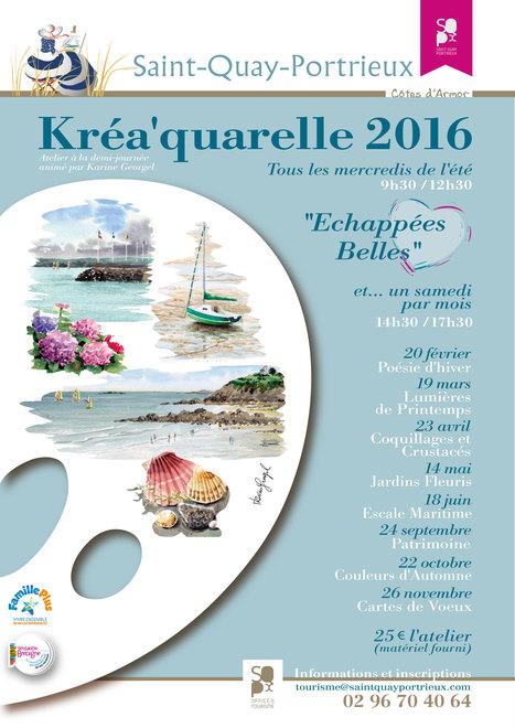 Calendrier Kréa'quarelle 2016 :   So' Saint-Quay-Portrieux   Scoop.it
