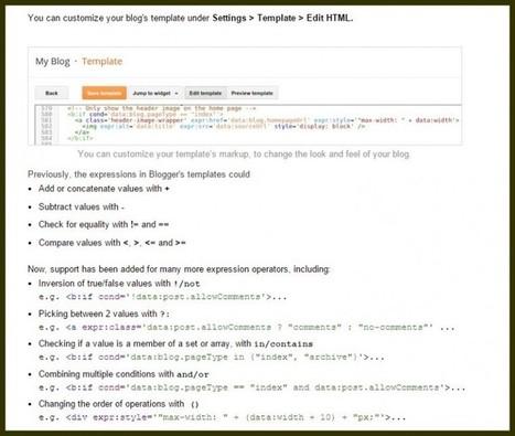 Blogger, plataforma de blogs de Google, añade funciones para personalizar plantillas | Educacion, ecologia y TIC | Scoop.it