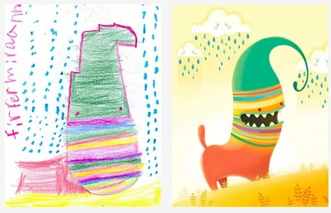 This lovely Kickstarter project pairs kids drawings with artists across the world | Technology in Art And Education | Scoop.it